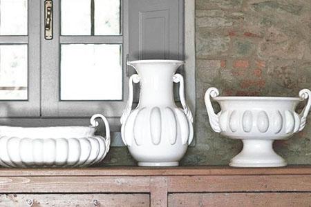 vasi bianchi ceramica