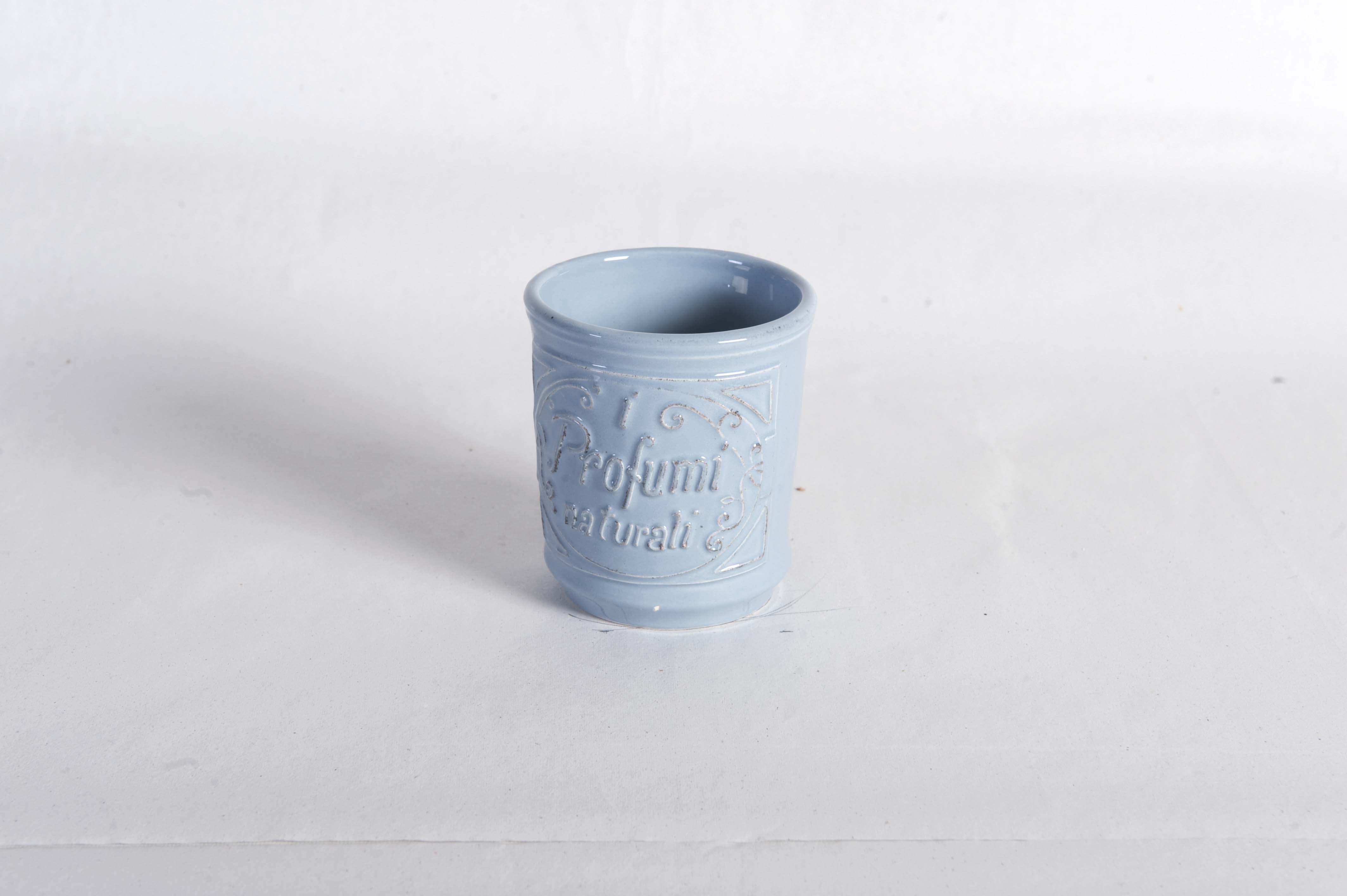 Bicchiere per spazzolini carta da zucchero linea bagno virginia casa shop bottega delle idee - Bagno carta da zucchero ...