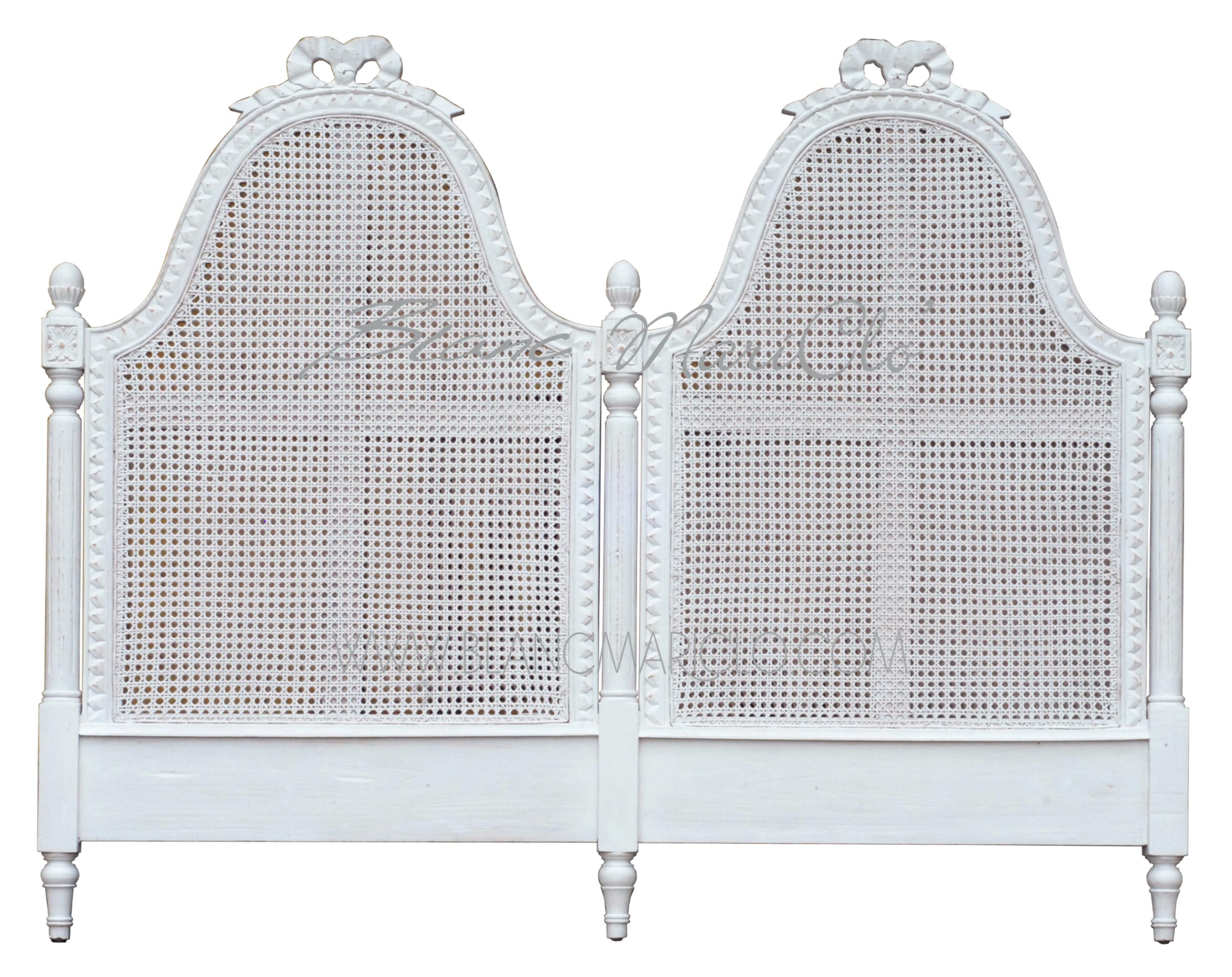 Testata letto matrimoniale in paglia di vienna collezione maria antonietta shop bottega - Letto di paglia ...