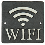 Targa in ferro quadrata WIFI