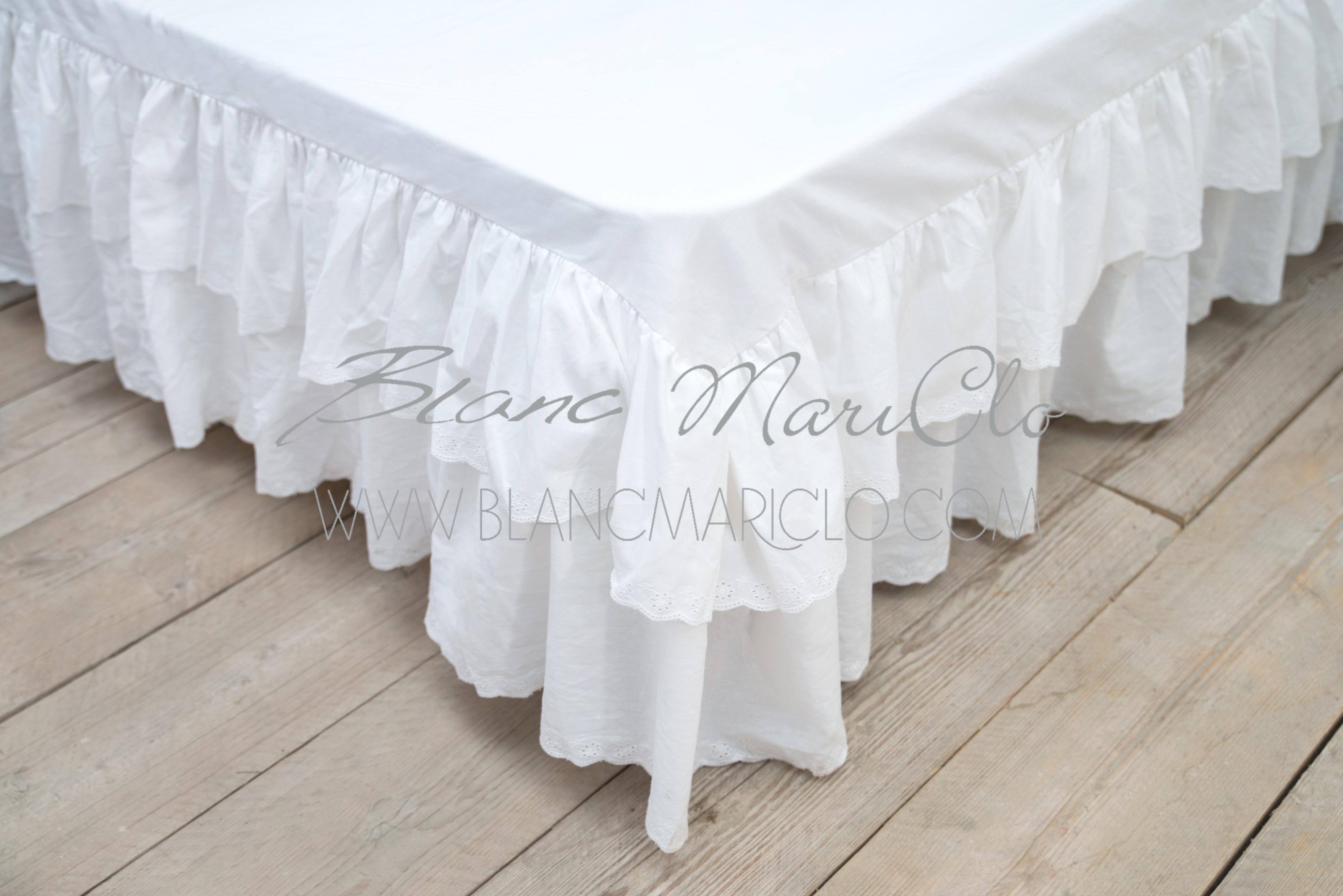 Vestiletto bianco con balze blanc maricl shop bottega delle idee - Coprirete vestiletto ikea ...
