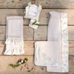 Coppia di asciugamani provenzali con balza