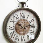 Orologio da muro con quadrante in legno