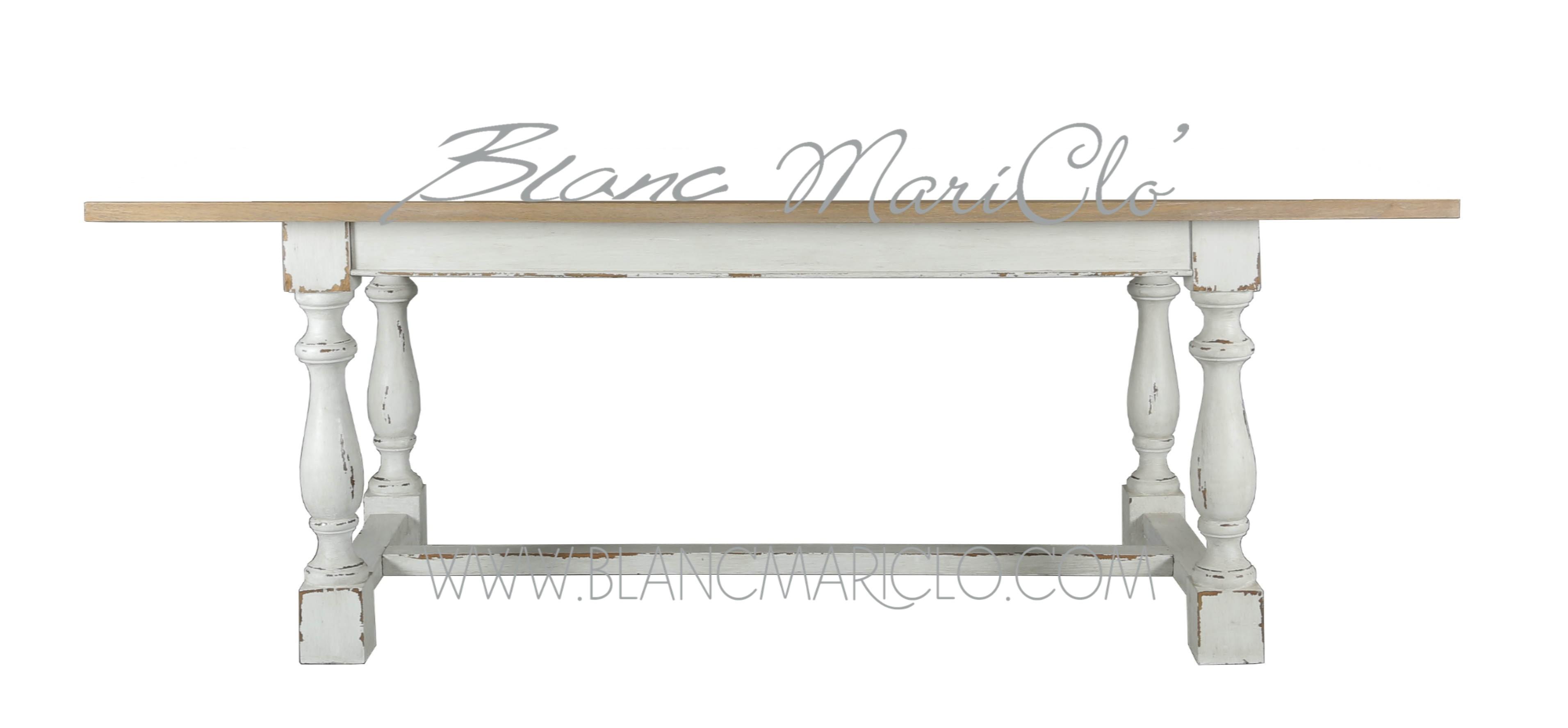 Tavolo rettangolare shabby chic, collezione \