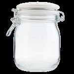 Barattolo in vetro con chiusura ermetica