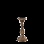 candeliere-retrò-legno-basso